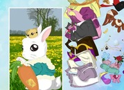 Dress-up-game-with-a-baby-rabbit